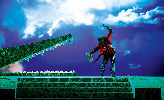 Das schaurige Ende einer schwarzen Seele: Käpt'n Hook (Jerzy Jeszke) findet seine verdiente Strafe im Magen des bösen Krokodils.