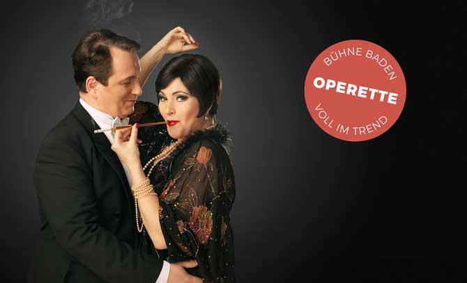 """""""Warum soll eine Frau kein Verhältnis haben?"""" Operettenhighlight mit 20er-Flair mit Matjaž Stopinšek und Miriam Portmann."""