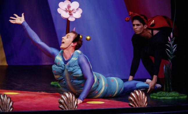 Jan Bezak und Tiago Augusto Mendes Silva als tanzende Insekten
