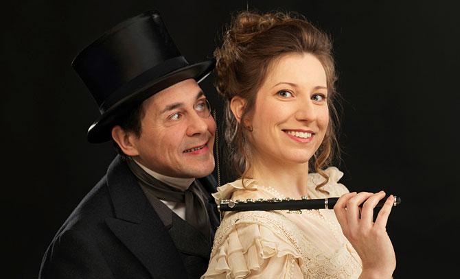 Simona Eisinger und Beppo Binder in einem heiteren Operettenklassiker von Oscar Straus. © Bühne Baden