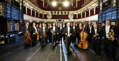 Es spielt das Orchester der Bühne Baden. © Bühne Baden