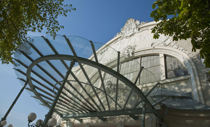 Eingangsbereich der Sommerarena Baden.  © Bühne Baden